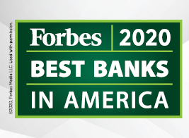 Forbes Best Bank 2020 Homepage Tile